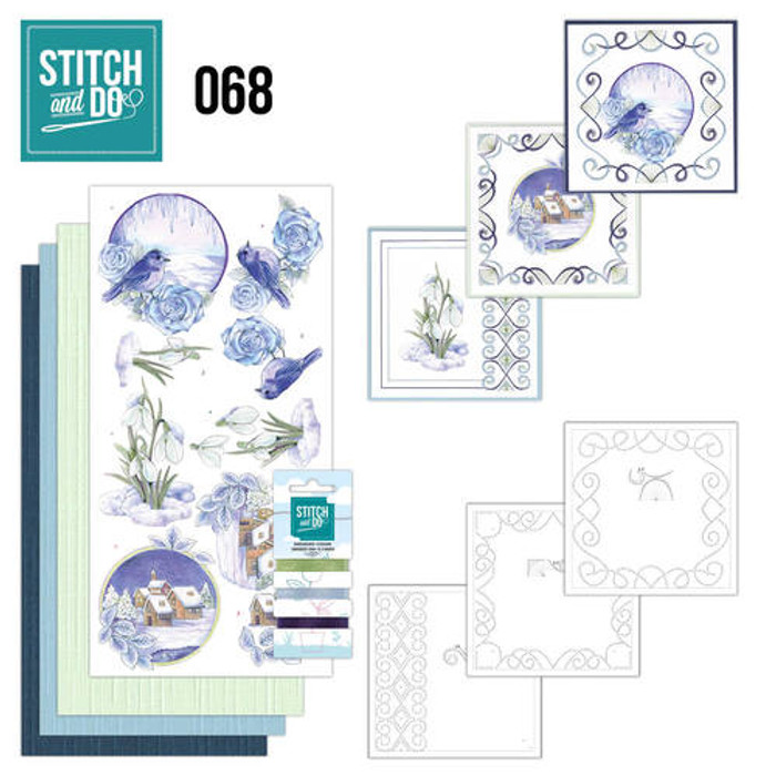 Stitch and Do 68 - Card Embroidery Kit - Winter Classics