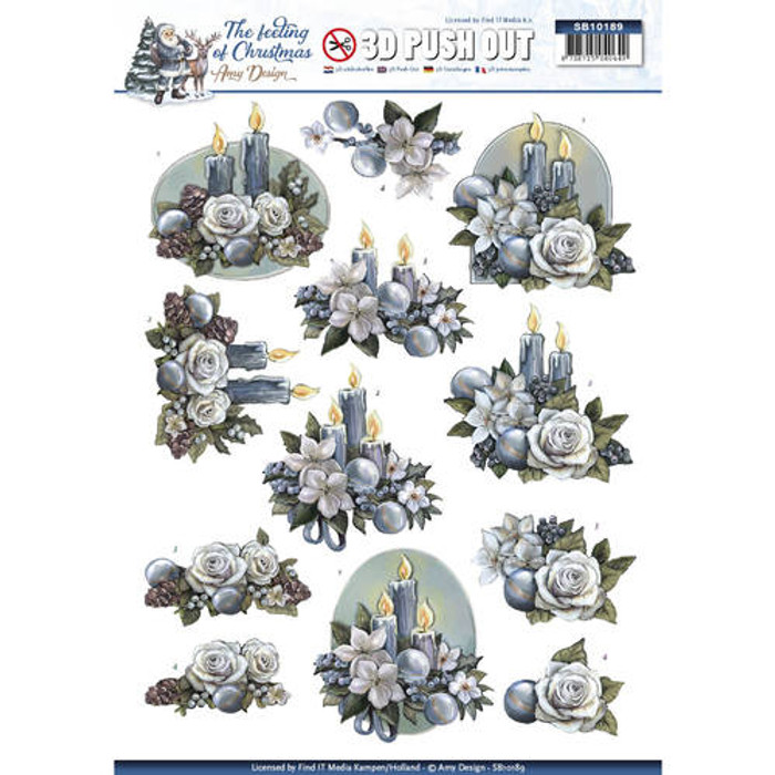 3D Die-Cut Sheet  Amy Design  - Christmas Candles SB10189