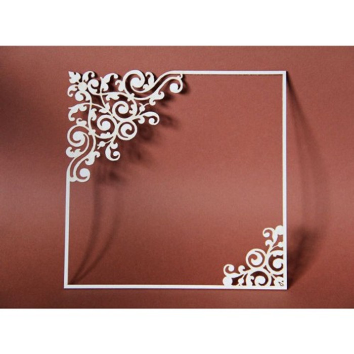 Filigree Laser Cut Chipboard - BIG SQUARE FRAME 145mm