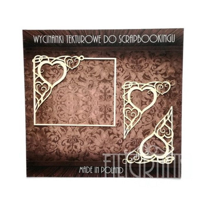 Filigree Laser Cut Chipboard - FRAME & CORNERS