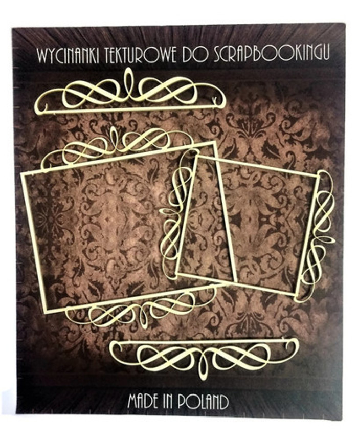 Filigree Laser Cut Chipboard - FRAMES & LINES set 4 pcs