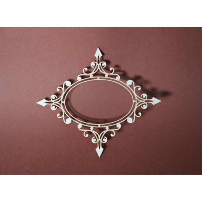Filigree Laser Cut Chipboard - ORNAMENTAL FRAME