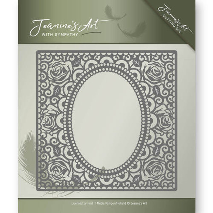 Jeanine's Art With Sympathy Die -  ROSE FRAME JAD10011