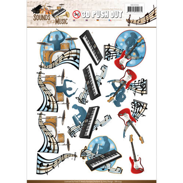 3D Die-Cut Sheet  Amy Design  - Pop Music SB10244