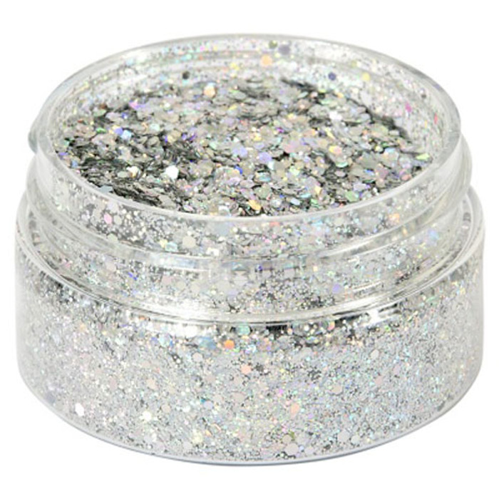Cosmic Shimmer Holographic Glitterbitz - SILVER GEMS