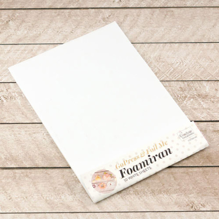 Foamiran Flower Making Sheets - White A4 10 Pk