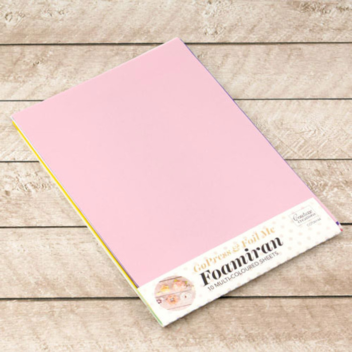 Foamiran Flower Making Sheets - Multi Coloured A4 10 Pk