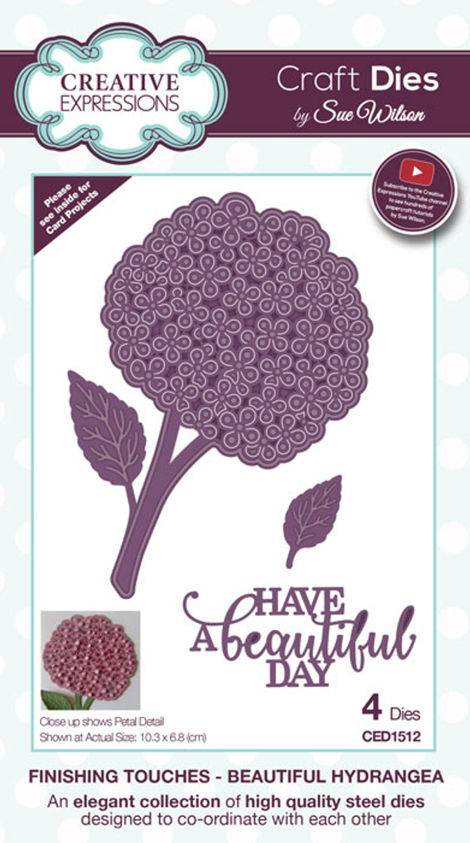 Sue Wilson Finishing Touches Collection Dies - Beautiful Hydrangea CED1512