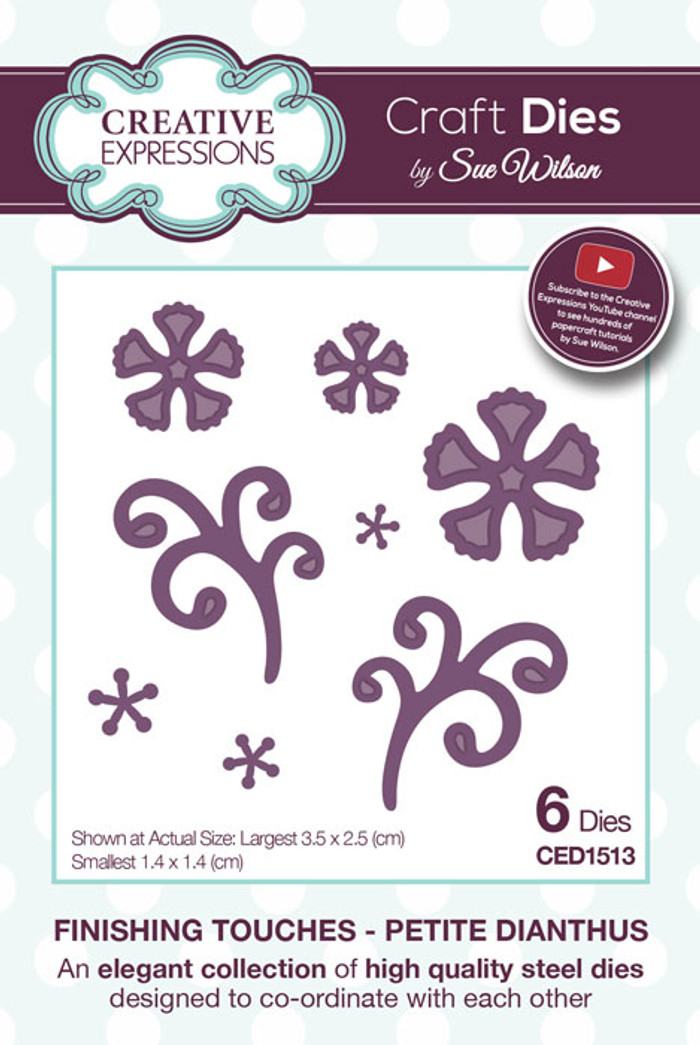 Sue Wilson Finishing Touches Collection Dies - Petite Dianthus CED1513