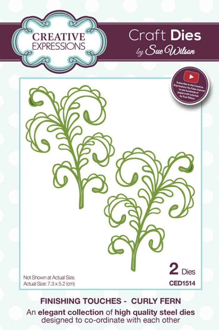 Sue Wilson Finishing Touches Collection Dies - Curly Fern CED1514