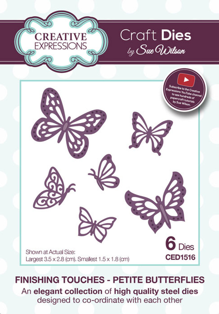 Sue Wilson Finishing Touches Collection Die - Petite Butterflies