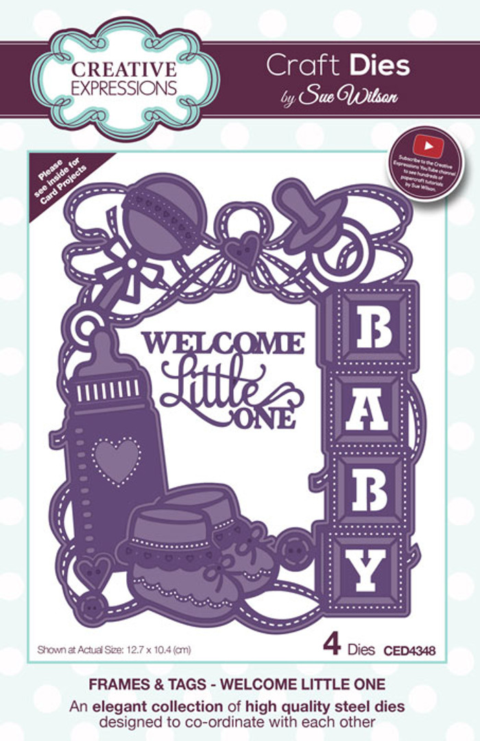 Sue Wilson Frames & Tags Collection Die - Welcome Little One CED4348