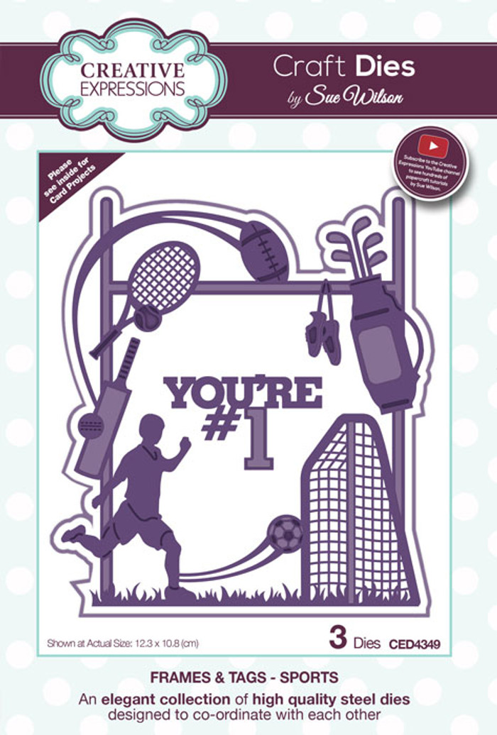 Sue Wilson Frames & Tags Collection Die - Sports CED4349