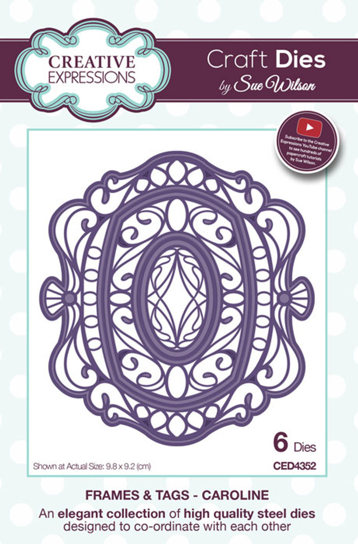 Sue Wilson Frames & Tags Collection Die - Caroline CED4352