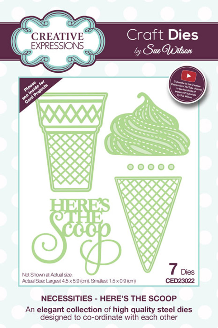 Sue Wilson Necessities Collection Die - Here's The Scoop CED23022