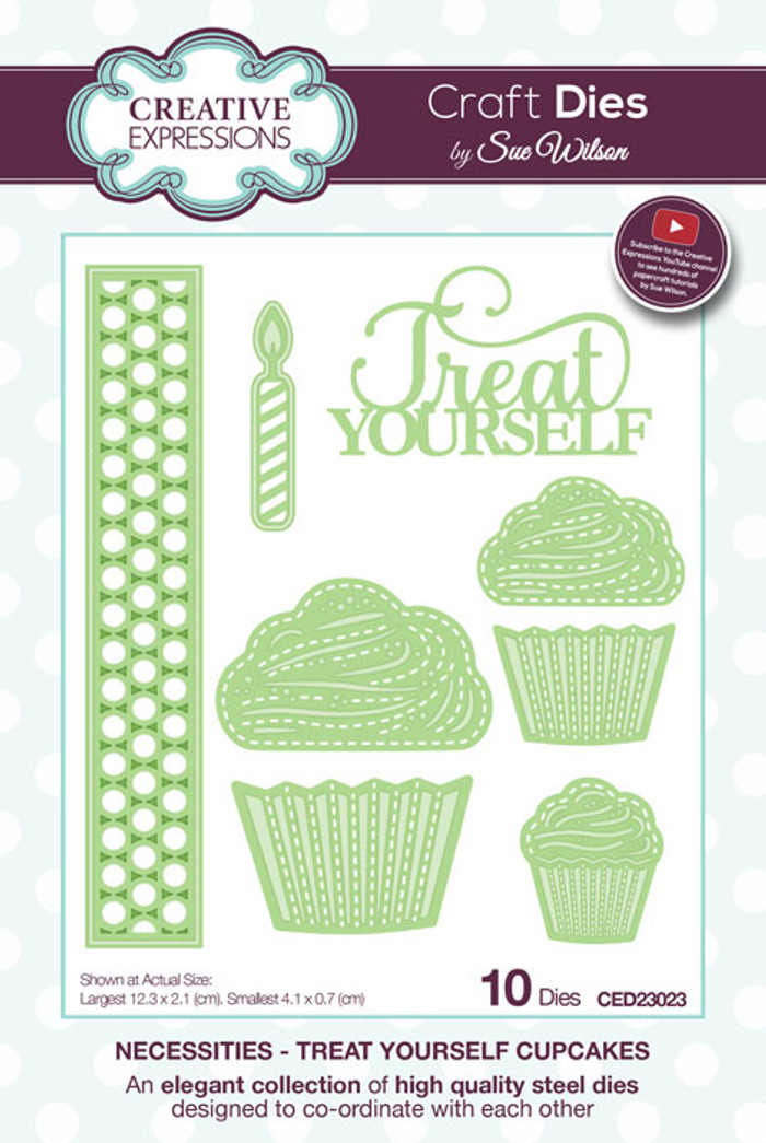 Sue Wilson Necessities Collection Die - Treat Yourself Cupcakes CED23023