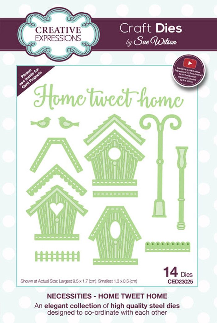 Sue Wilson Necessities Collection Die - Home Tweet Home CED23025