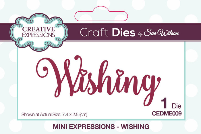 Sue Wilson Mini Expressions Collection Die - Wishing CEDME009