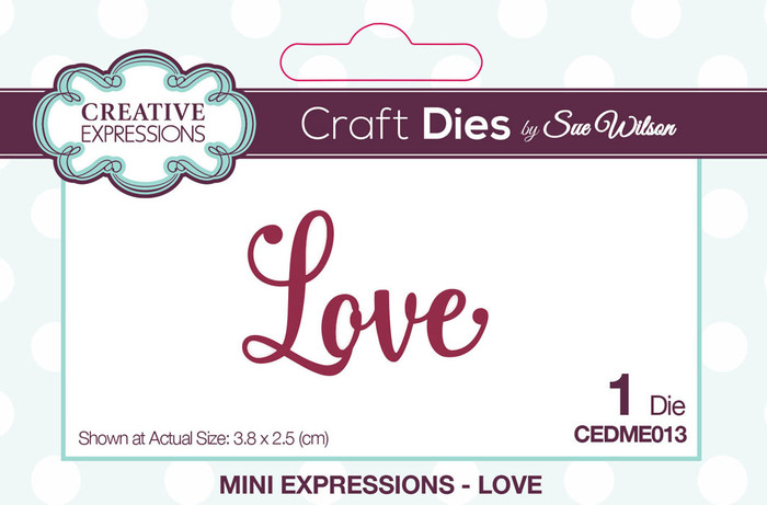 Sue Wilson Mini Expressions Collection Die - Love CEDME013