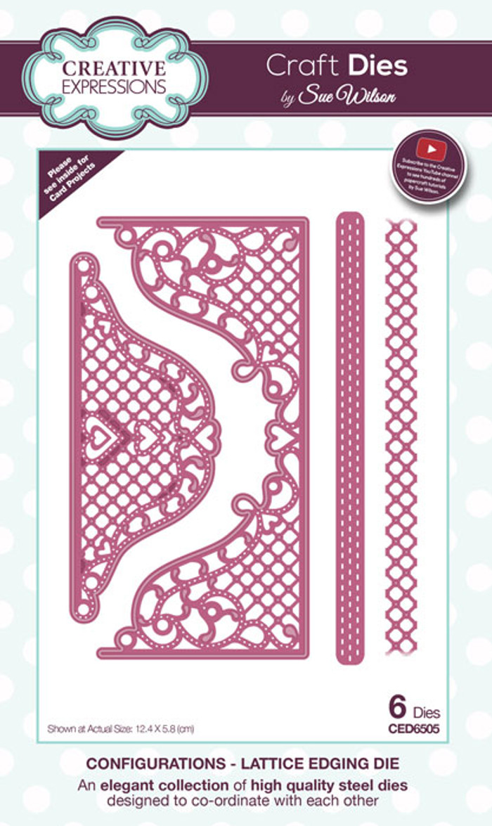 Sue Wilson Configurations Collection Dies - Lattice Edging CED6505