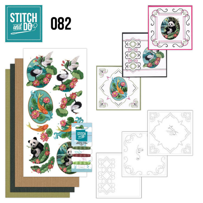 Stitch and Do 82 - Card Embroidery Kit - Oriental