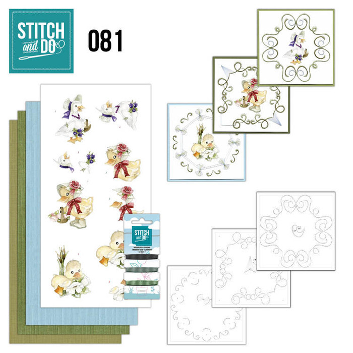 Stitch and Do 81 - Card Embroidery Kit - Spring Animals