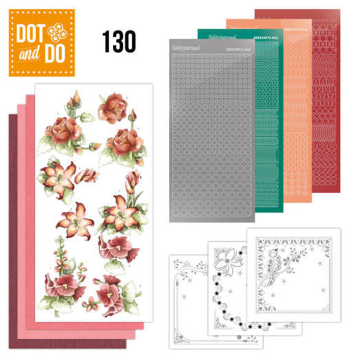 Dot and Do Kit #129 - Precious Marieke - Timeless Red Flowers