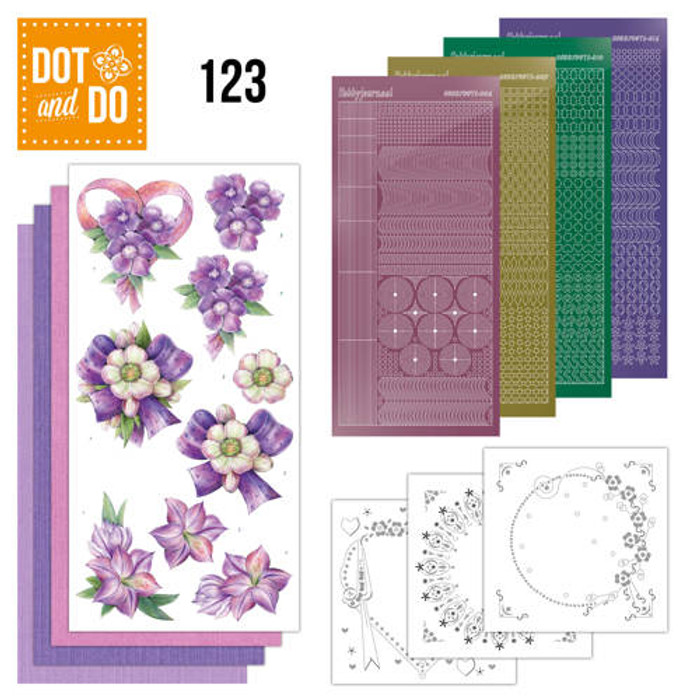 Dot and Do Kit #123 -  Purple Flowers