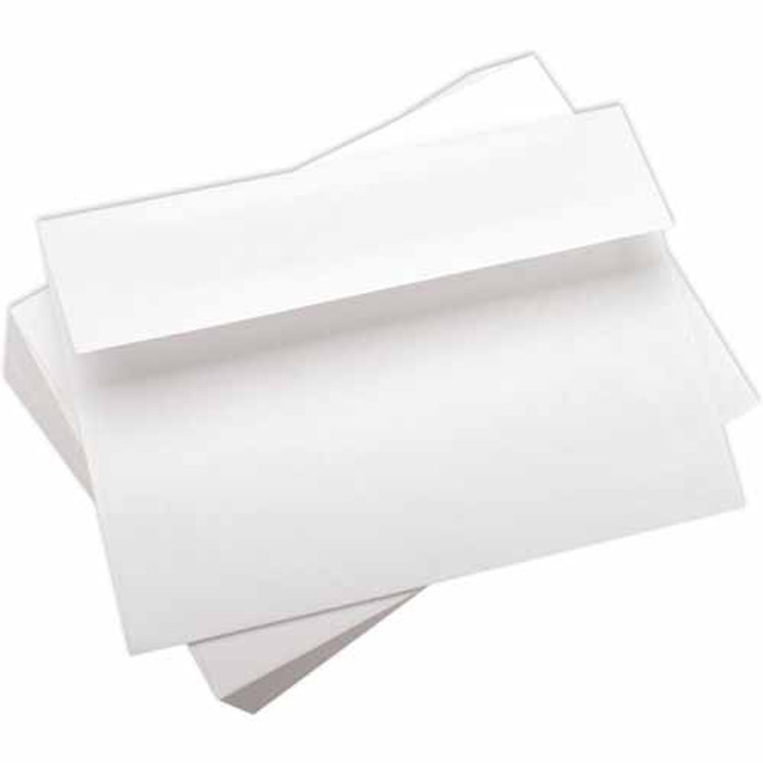 "A7 (5 x 7"") Envelopes  WHITE Smooth  90gsm - 50 Pack 5.25"" x 7.5"""