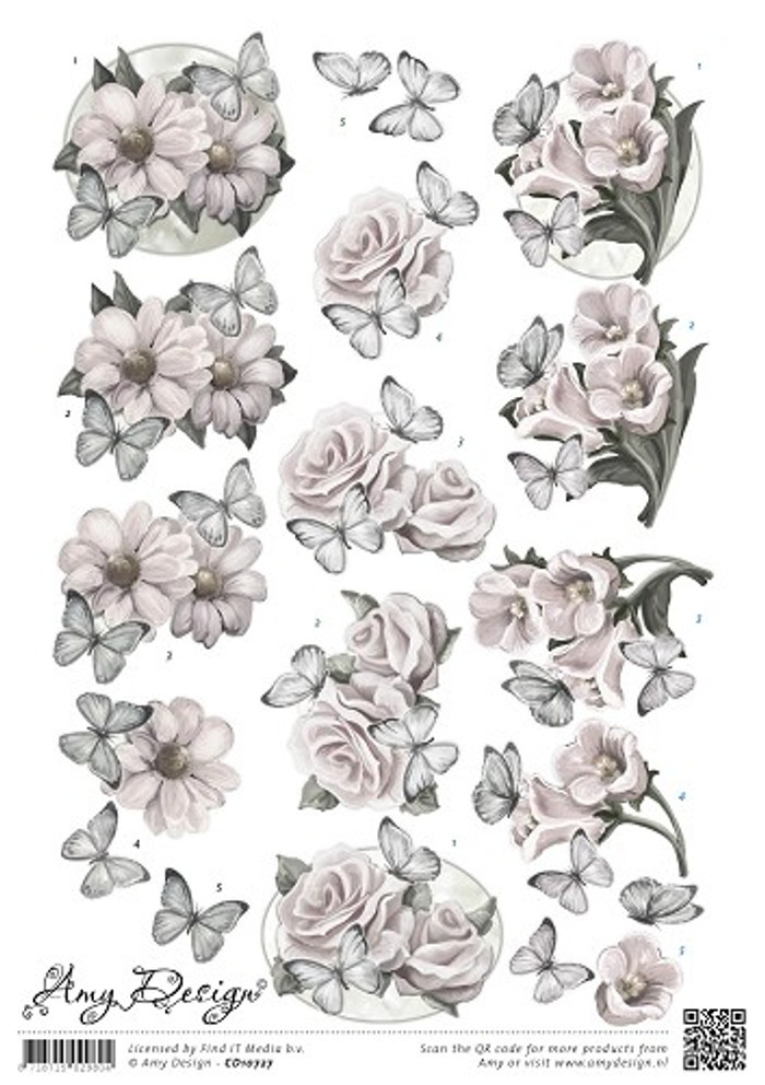 3D Sheet Amy Design Condolence Flowers CD10727
