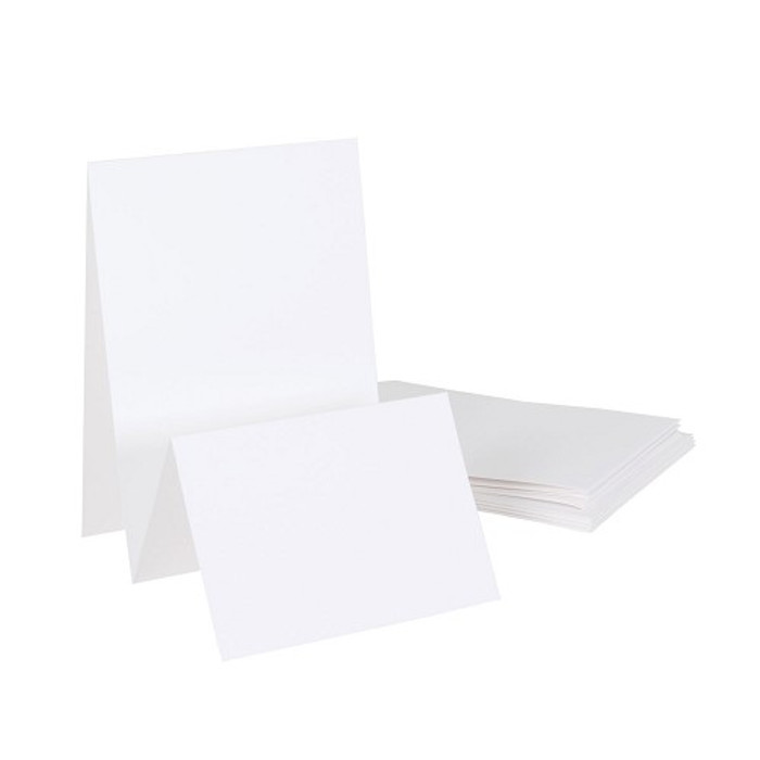 """Stepper Card 300gsm  5"""" x 7"""" with Envelopes White - 4 Pack"""