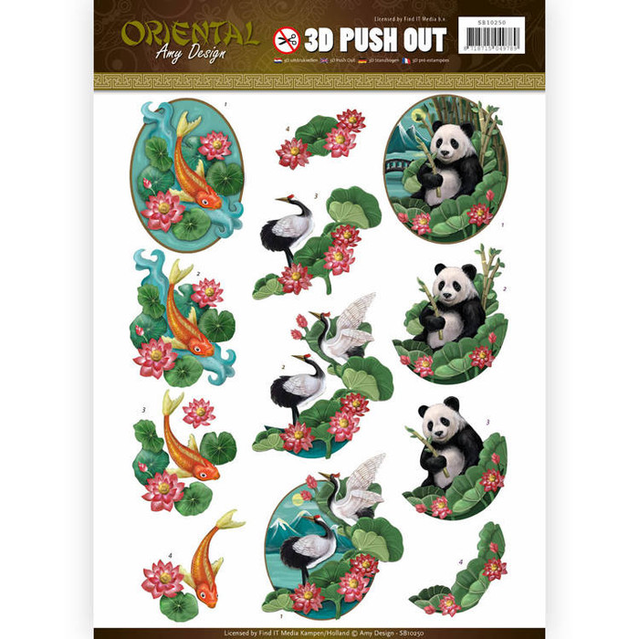 3D Die-Cut Sheet  Amy Design  - Oriental Animals SB10250