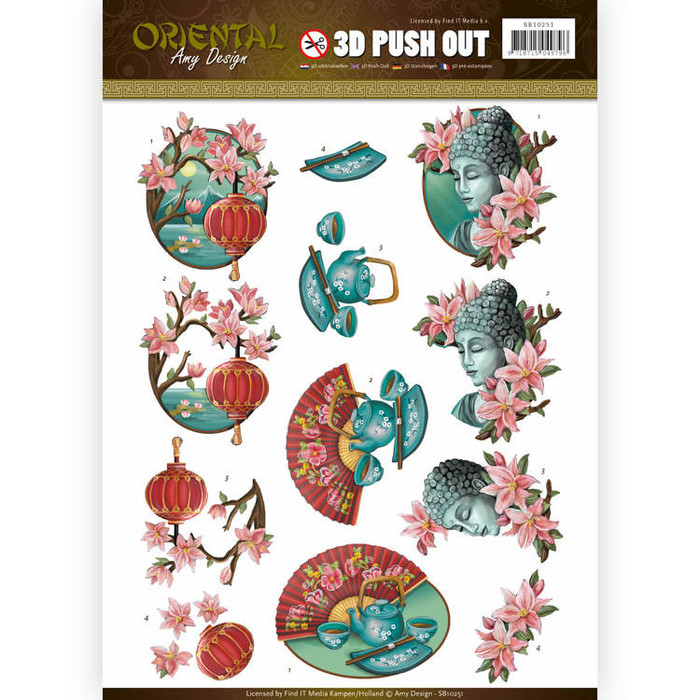 3D Die-Cut Sheet  Amy Design  - Oriental Culture  SB10251
