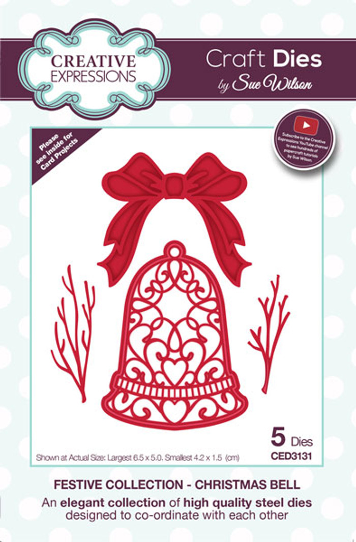 Sue Wilson Festive Collection - Christmas Bell CED3131
