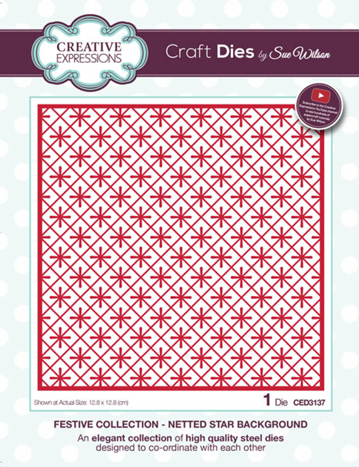 Sue Wilson Festive Collection - Netted Star Background CED3137