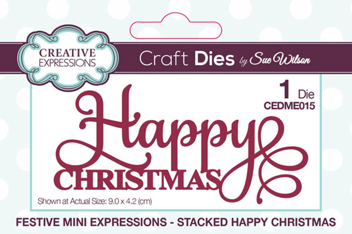 Sue Wilson Festive Collection - Stacked Happy Christmas CEDME015