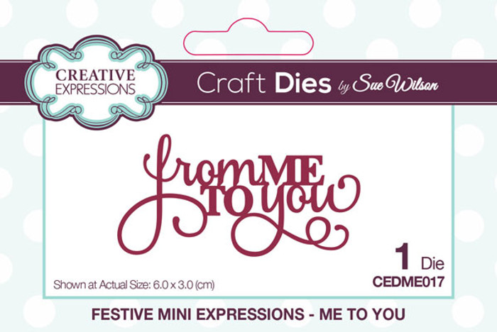 Sue Wilson Festive Collection - Me To You CEDME017