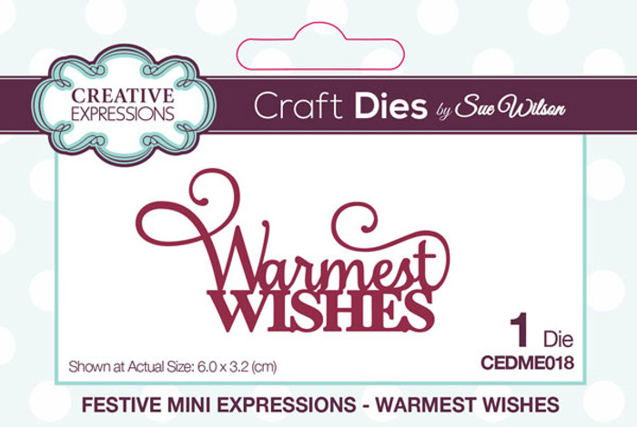 Sue Wilson Festive Collection - Warmest Wishes CEDME018