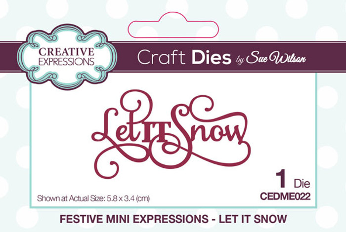 Sue Wilson Festive Collection - Let It Snow  CEDME022