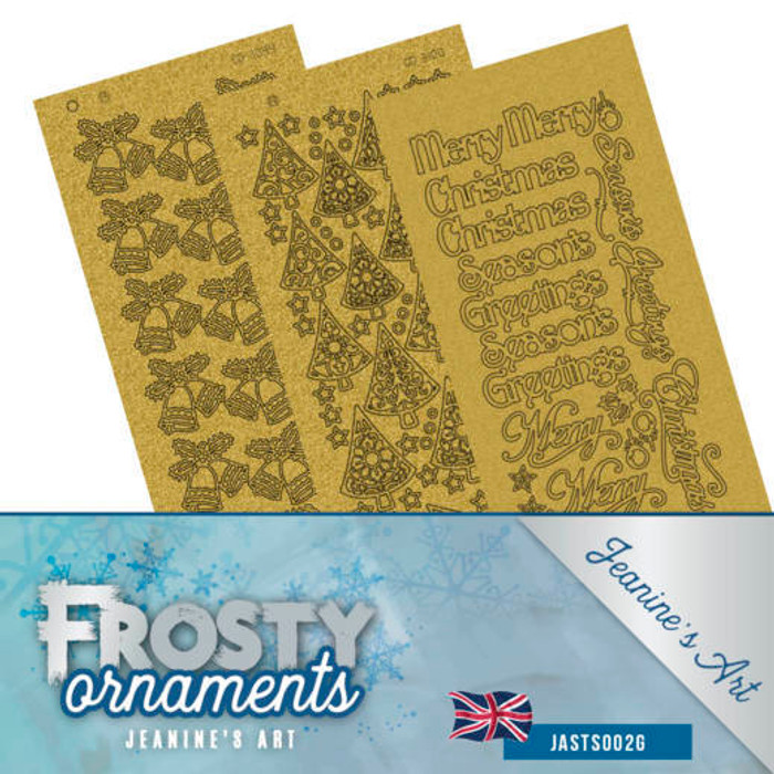 Jeanine's Art Sticker Set - Frosty Ornaments Gold Pearl