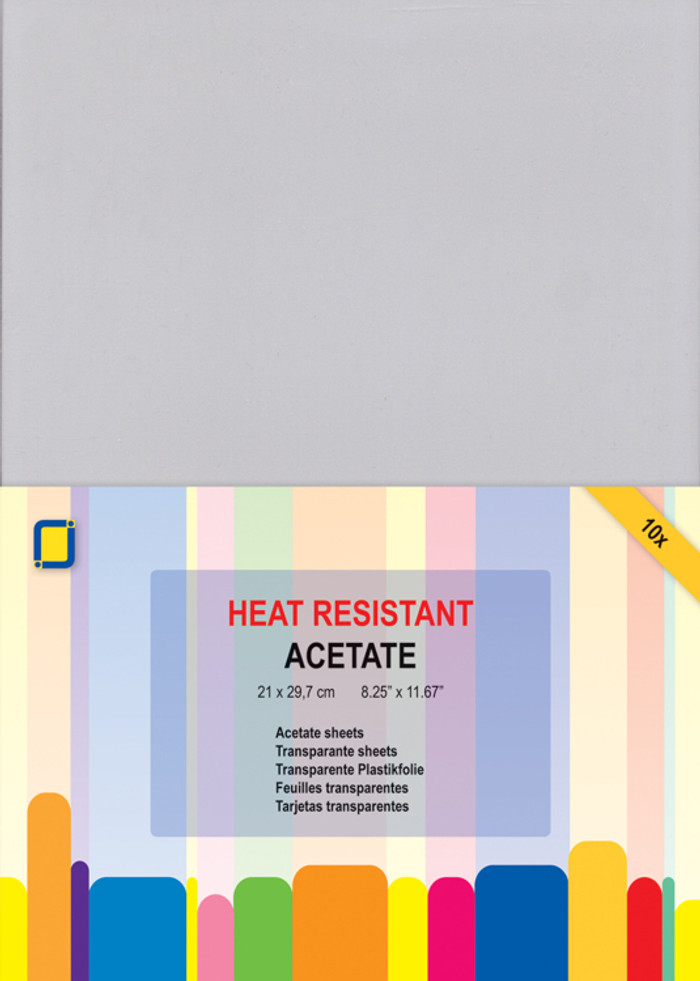 A4 Heat-Resistant Acetate (Clear Sheets) Pack - 10 sheets