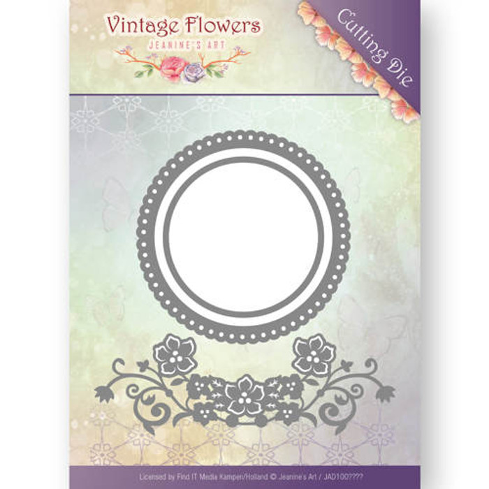 Jeanine's Art Vintage Flowers  Die -  FLOWERS AND CIRCLES JAD10034
