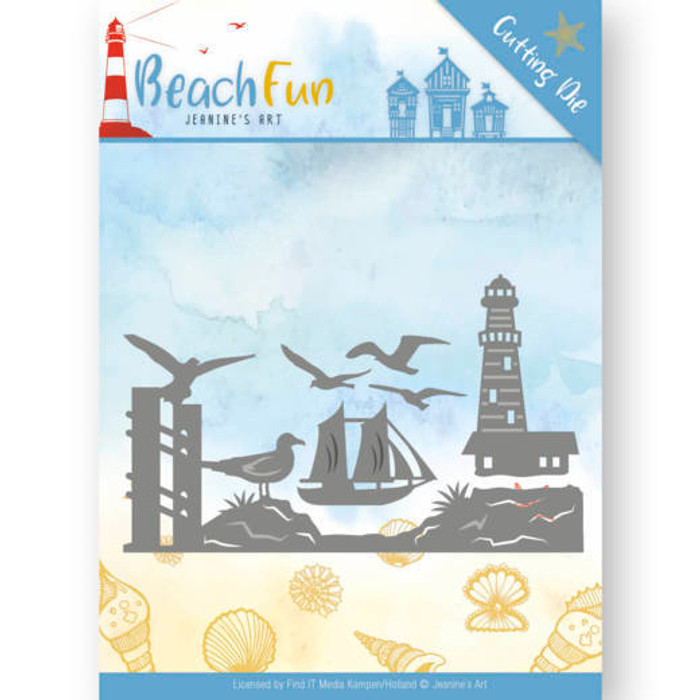 Jeanine's Art Beach Fun Die- LIGHTHOUSE BORDER JAD10039
