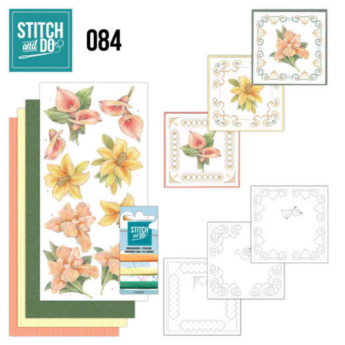 Stitch and Do 84 - Card Embroidery Kit - Yellow Flowers