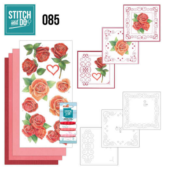 Stitch and Do 85 - Card Embroidery Kit - Roses