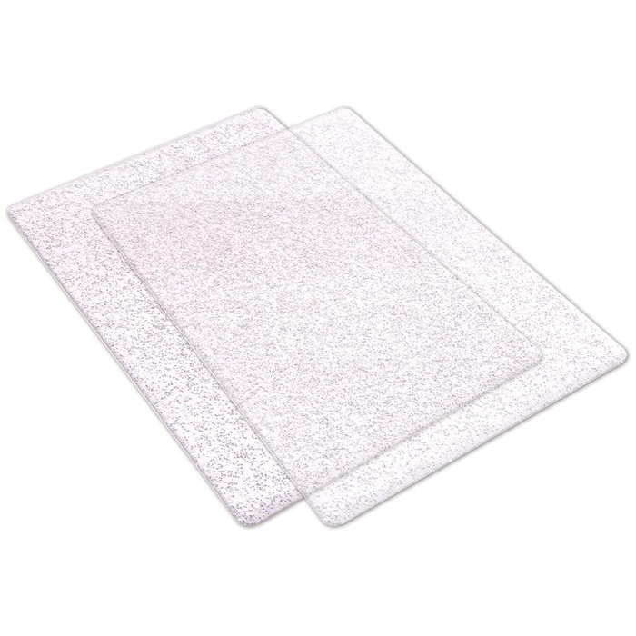 Big Shot Standard Cutting Pads 1 Pair - Clear with Silver Sparkle