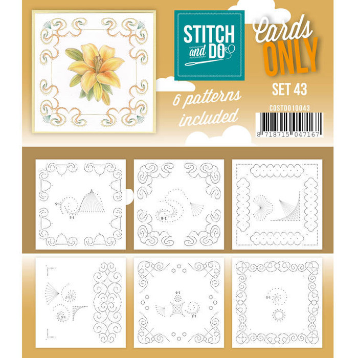 Stitch and Do Card Stitching Cardlayers Only - Set 43