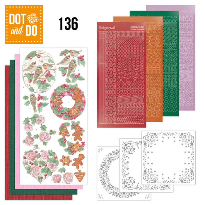 Dot and Do Kit #136 - Christmas Florals