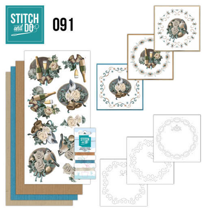 Stitch and Do 91 - Card Embroidery Kit - Christmas Wishes