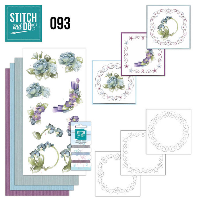 Stitch and Do 93 - Card Embroidery Kit - Winter Flowers